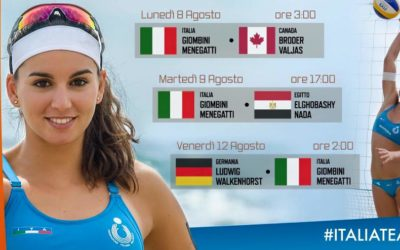Partite Nazionale Beach Volley Femminile alle Olimpiadi